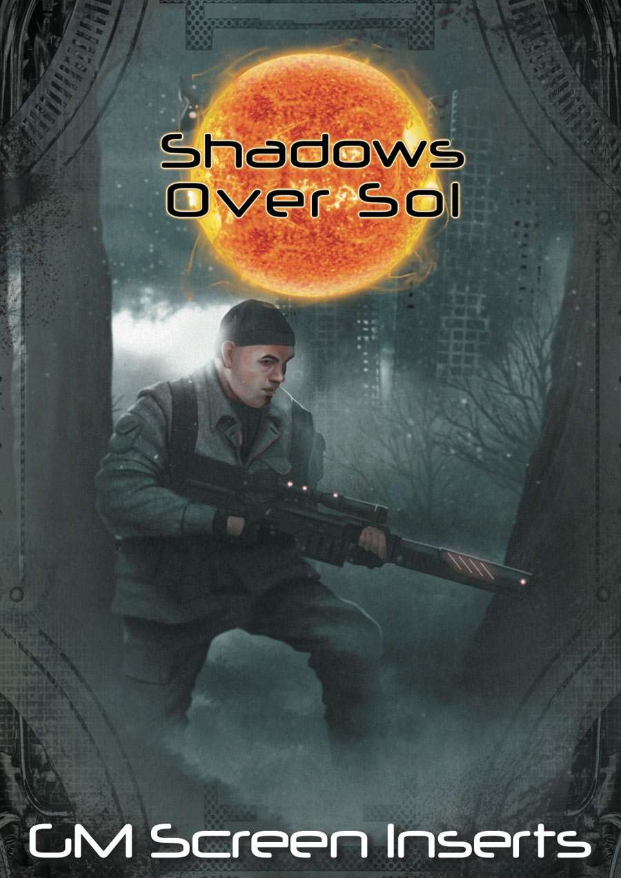 Shadows Over Sol: GM Screen Inserts